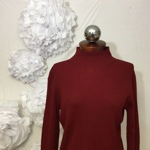 346 BROOKS BROTHERS ribbed mock neck sweater M
